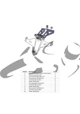 Kennzeichenhalter Yamaha R1