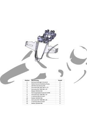 Kennzeichenhalter Kawasaki 636 R