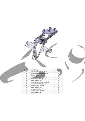 Kennzeichenhalter Kawasaki Z1000