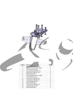 Kennzeichenhalter Kawasaki Z800
