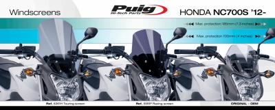 Puig Racingscheibe Honda NC 750 S