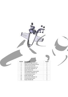 Kennzeichenhalter Yamaha MT-09