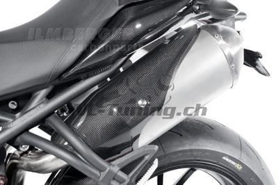 Carbon Ilmberger Auspuffhitzeschutz Set Triumph Speed Triple 1050