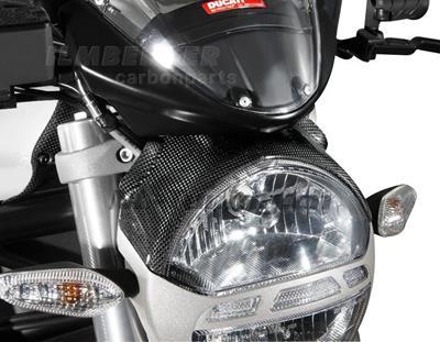 Carbon Ilmberger Lampenabdeckung Ducati Monster 1100