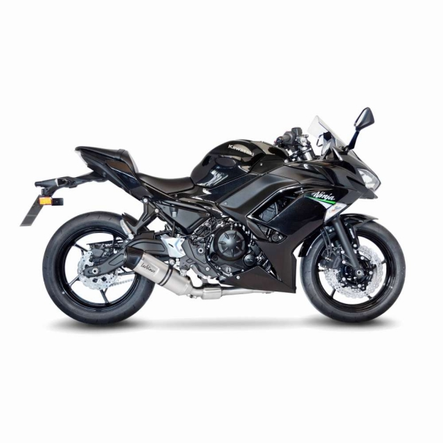 auspuff leo vince lv one evo komplettanlage kawasaki ninja 650. Black Bedroom Furniture Sets. Home Design Ideas