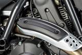 Carbon Ilmberger Auspuffhitzeschutz am Krümmer Ducati Scrambler Café Racer