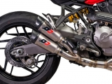 Auspuff QD Twin Titan Gunshot Ducati Monster 1200 S
