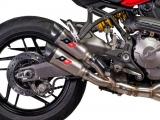 Auspuff QD Twin Titan Gunshot Ducati Monster 1200