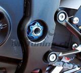 Evotech Achsmutter Schwinge links Yamaha R6